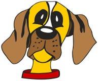 Cabeça de cão dos desenhos animados ilustração stock