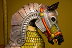 Cabeça de cavalo colorida de Caroussel Fotografia de Stock