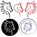 Cabeça de cavalo no fundo branco Imagem de Stock