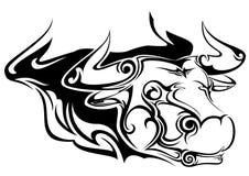 Cabeça de elementos do teste padrão do touro Imagem de Stock
