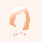 Cabeça de flamingos cor-de-rosa logo Foto de Stock