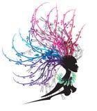 Cabeça de flor de Womans Ilustração Stock