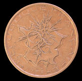 A cabeça de 10 francos inventa, emitido por França que descreve em 1975 um mapa de França metropolitano com flashes apontando a P Fotografia de Stock