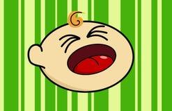 Cabeça de grito do bebê Fotografia de Stock