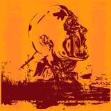 Cabeça de Grunge Foto de Stock Royalty Free