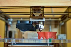 cabeça de impressão 3D Fotos de Stock