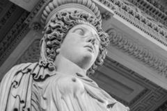 Cabeça de mármore branca da jovem mulher imagens de stock royalty free