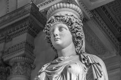 Cabeça de mármore branca da jovem mulher foto de stock