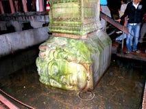 Cabeça de Meduse no cisterne de Istambul, Turquia Imagem de Stock