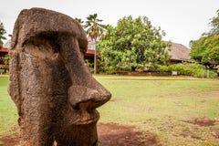 Cabeça de Moai da Ilha de Páscoa fotografia de stock