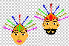 Cabeça de Ondel - ondel (fantoche tradicional grande de jakarta) Imagens de Stock