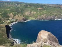 Cabeça de Ontop Kahakuloa, Maui Fotografia de Stock