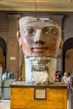 Cabeça de Osiride Statue de Hatshepsut imagens de stock