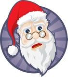 Cabeça de Papai Noel Fotografia de Stock