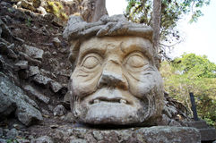Cabeça de pedra Foto de Stock
