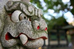 Cabeça de pedra do tigre Imagem de Stock Royalty Free