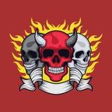 Cabeça de três crânios Fotografia de Stock Royalty Free