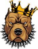 Cabeça de um cão na coroa ilustração stock