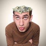 Cabeça de um homem e de sua mente. Imagens de Stock Royalty Free