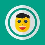 Cabeça de um homem em um estilo liso, ícone, homem, pessoa Imagens de Stock Royalty Free