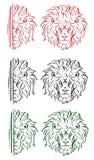 A cabeça de um leão Imagens de Stock Royalty Free