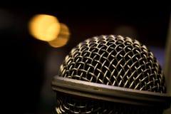 Cabeça dinâmica da cápsula do microfone fotos de stock