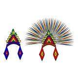 Cabeça do asteca da capota Imagens de Stock