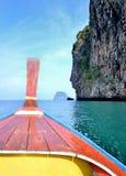 Cabeça do barco da cauda longa Fotografia de Stock