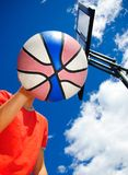 Cabeça do basquetebol imagem de stock