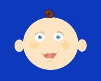 Cabeça do bebé Imagem de Stock