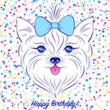 Cabeça do cão ilustração royalty free