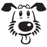 Cabeça do cão de cachorrinho dos desenhos animados Fotografia de Stock