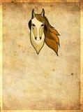 Cabeça do cavalo com quadro Imagens de Stock Royalty Free
