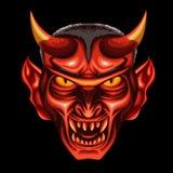 Cabeça do diabo ilustração royalty free