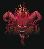 Cabeça do diabo ilustração stock