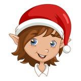 Cabeça do duende do Natal Imagem de Stock Royalty Free
