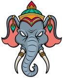 Cabeça do elefante Fotos de Stock
