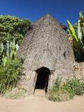 A cabeça do elefante gosta da casa tradicional de Dorze Vila de Hayzo, Omo V Imagens de Stock