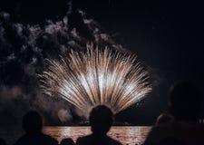 Cabeça do festival dos fogos-de-artifício foto de stock