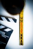 cabeça do filme de 35mm do carretel com Imagem de Stock