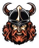 Cabeça do guerreiro de Viking ilustração do vetor