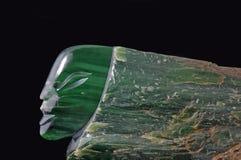 Cabeça do jade fotografia de stock