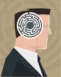 Cabeça do labirinto Fotografia de Stock