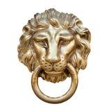 Cabeça do leão, aldrava de porta imagem de stock
