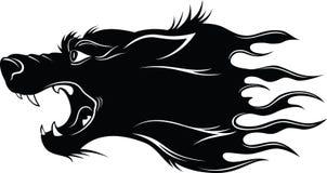Cabeça do lobo ilustração do vetor