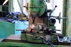 Cabeça do metal da máquina na fábrica Fotografia de Stock Royalty Free