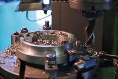 Cabeça do metal da máquina na fábrica Foto de Stock