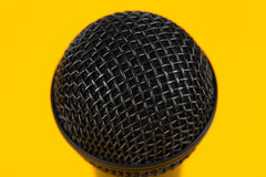Cabeça do microfone do close up Imagens de Stock Royalty Free