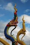 A cabeça do Naga no céu Fotos de Stock