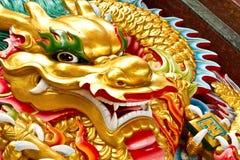 Cabeça do ouro do dragão fotografia de stock royalty free